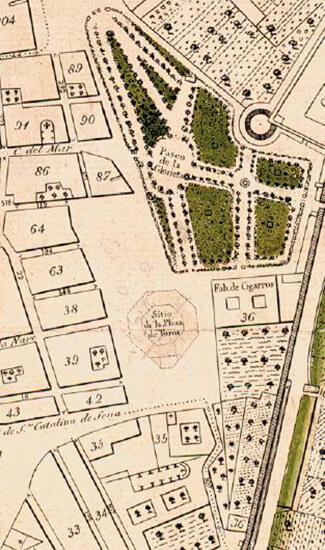 """Piano del 1831 del futuro """"Parterre"""""""