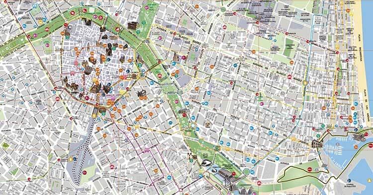 Mappa di Valencia