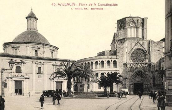 Plaza de la Virgen nel 1924